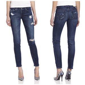 AG Stilt Cigarette Distressed Jeans